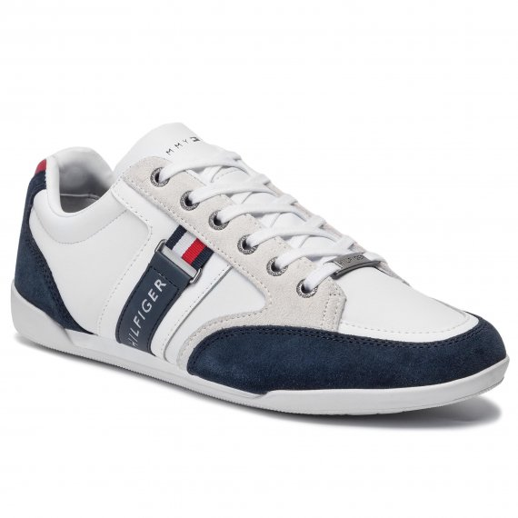 Sneakersy TOMMY HILFIGER - Corporate Material Mix Cupsole FM0FM02398  Rwb 020