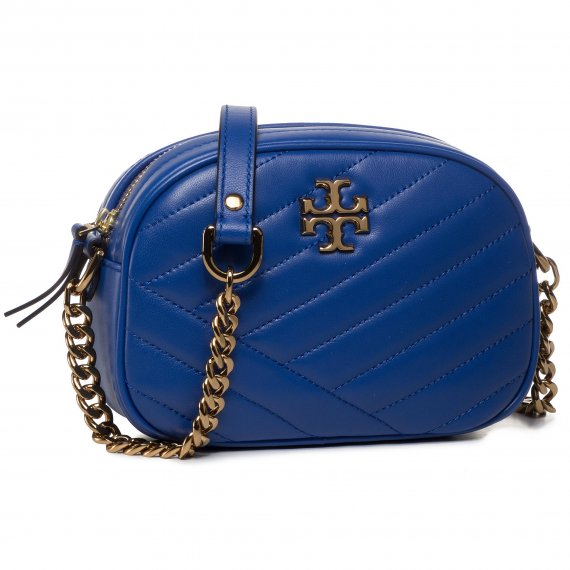 Torebka TORY BURCH - Kira Chevron Camera Bag 60227 Nautical Blue 408