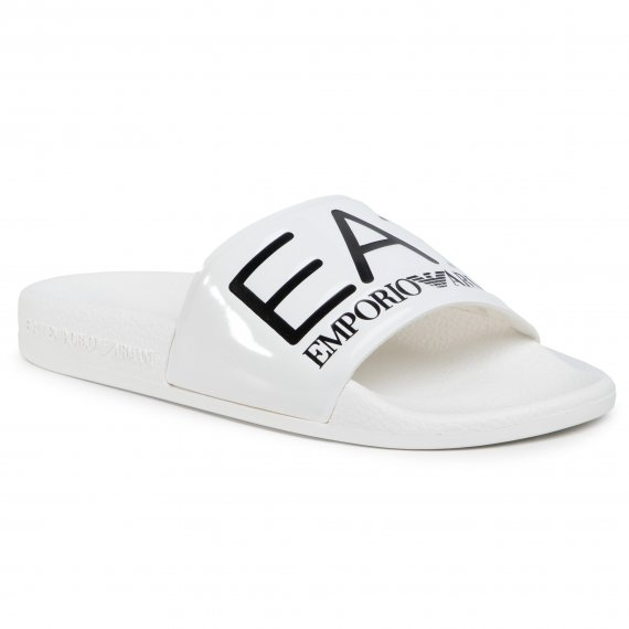 Klapki EA7 EMPORIO ARMANI - XCP001 XCC22 A222 Shiny White/White Sea World