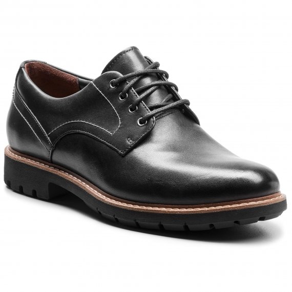 Półbuty CLARKS - Batcombe Hall 261275497 Black Leather