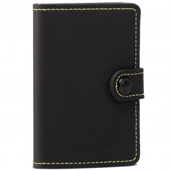 Mały Portfel Męski SECRID - Miniwallet MM Matte Black/Yellow