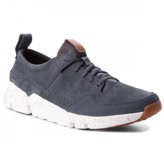 Sneakersy CLARKS - Triactive Run 261322757 Blue Nubuck