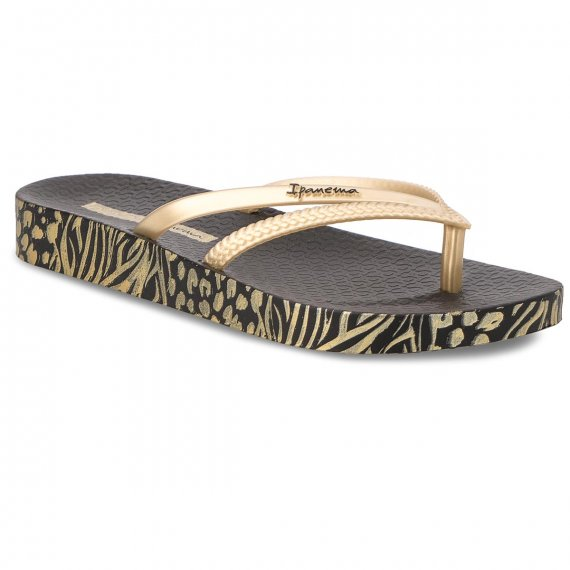 Japonki IPANEMA - Bossa Soft II Fm 82282 Black/Gold 21117