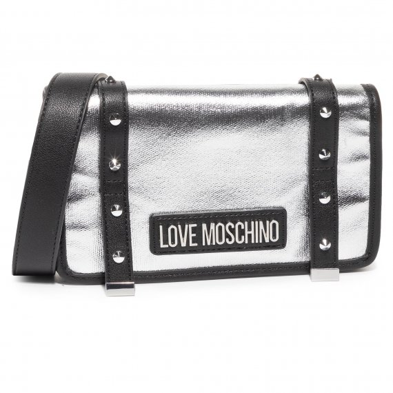 Torebka LOVE MOSCHINO - JC4080PP1ALL190A  Argento/Nero