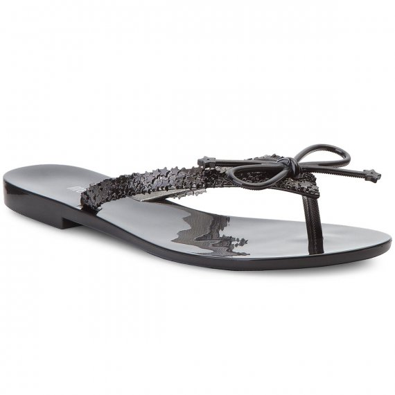 Japonki MELISSA - Harmonic Elements Ad 32392  Black/Metalized Black 53337