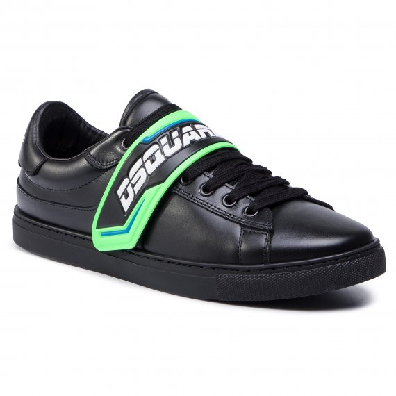 Sneakersy DSQUARED2 - New Tennis SNM0056 01500001 M603 Nero/Verde Fluo