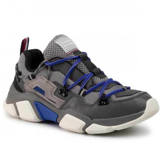Sneakersy TOMMY HILFIGER - City Voyager Chunky Sneaker FM0FM02580 Dark Ash PTY