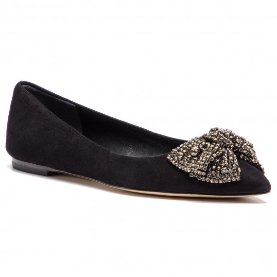 Baleriny TORY BURCH - Esme Flat 53029 Perfect Black/Black Dimond 004