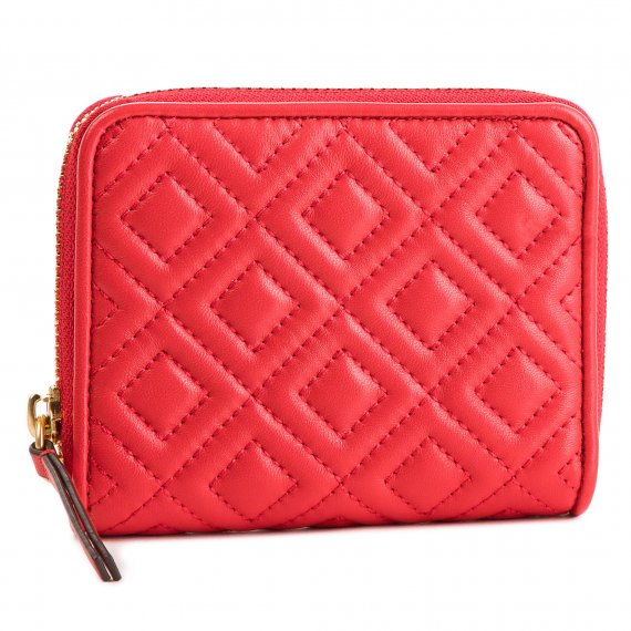 Mały Portfel Damski TORY BURCH - Fleming Medium 43558 Brilliant Red 612