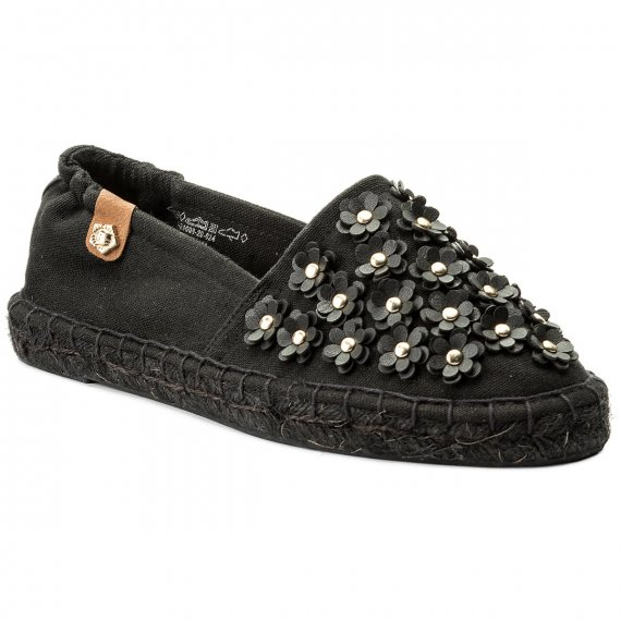 Espadryle TAMARIS - 1-24608-20 Black Canvas 024