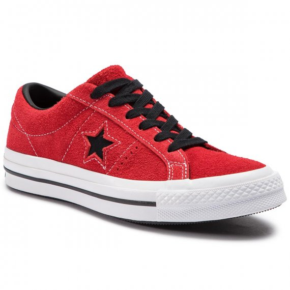 Tenisówki CONVERSE - One Star Ox 163246C Enamel Red/Black/White