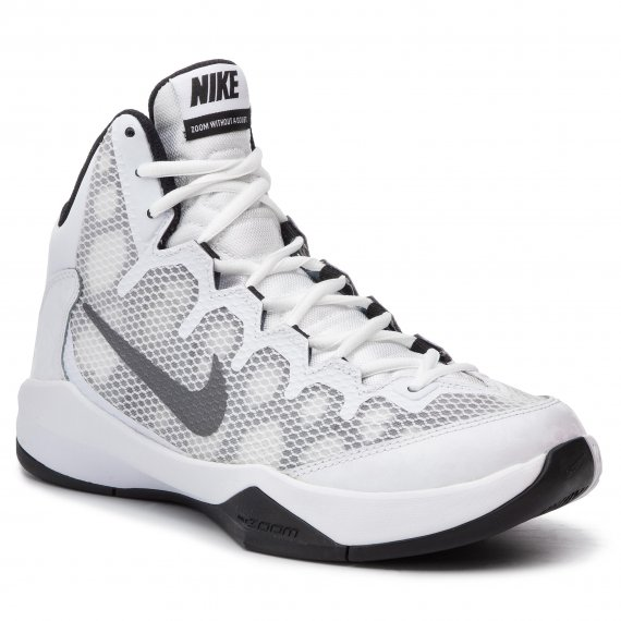 Buty NIKE - Zoom Without A Doubt 749432 100 White/Rflct Silver/Blk/Cl Gry