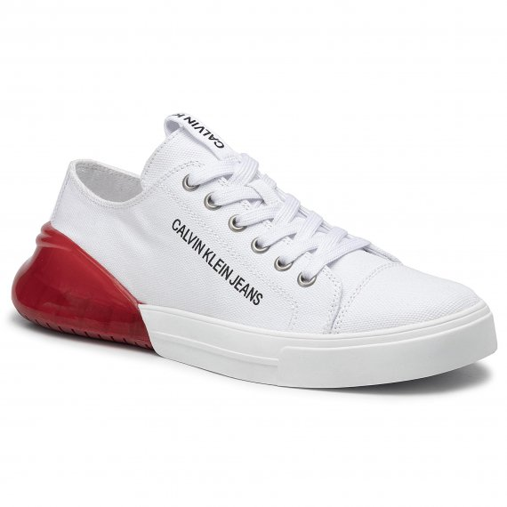 Sneakersy CALVIN KLEIN JEANS - Munro B4S0080 White/Red