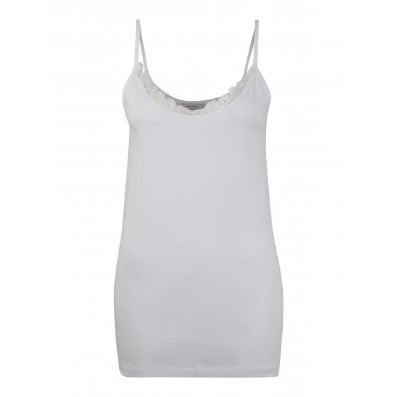 ONLY Carmakoma Top 'carDAY SINGLET SEAMLESS TOP'  biały