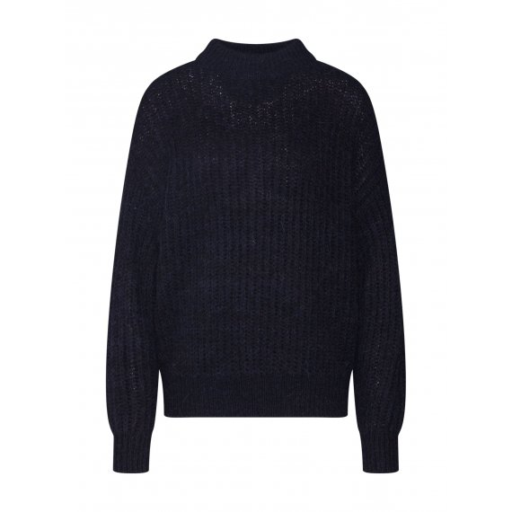 Another Label Sweter 'passy knitted pull l/s'  czarny