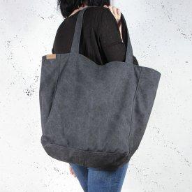 5820fd5c245b1 Cocoono. Lazy bag torba czarna na zamek   vegan ...