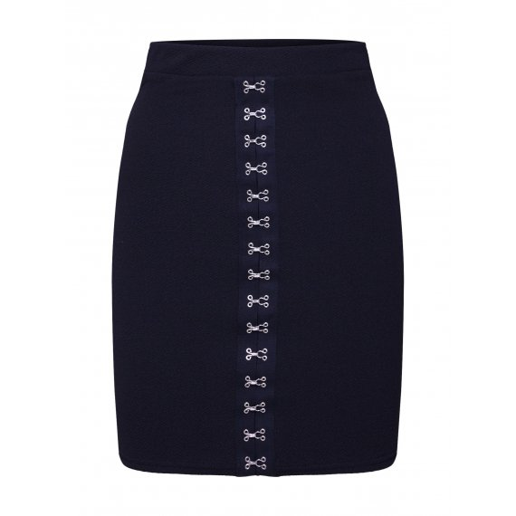 Missguided Spódnica 'Hook and Eye Bodycon Mini Skirt'  czarny