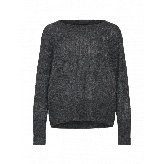 ONLY Sweter 'onlHANNA L/S PULLOVER KNT'  ciemnoszary