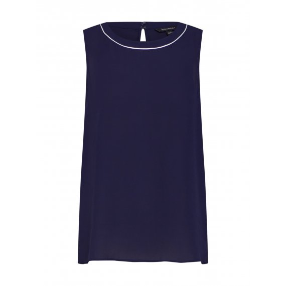 Banana Republic Top 'SL PIPED TRIM CREW TOP'  granatowy