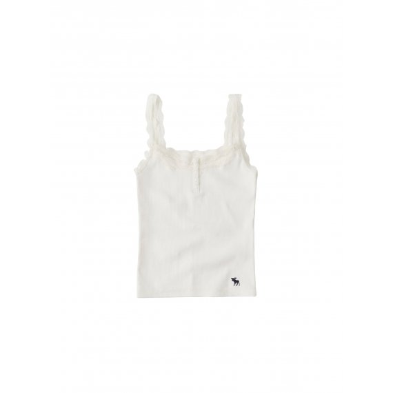 Abercrombie & Fitch Top 'SB19-MOOSE LACE CAMI'  biały