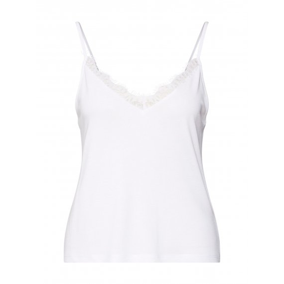 NA-KD Top 'Lace Detailed Slip Singlet'  biały