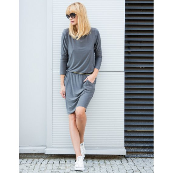 Sukienka Cupro Casual Chic Grey