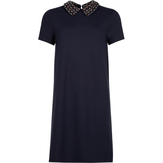 TOMMY HILFIGER Sukienka 'FEDERICA COLLAR-NK MINI DRESS SS'  niebieska noc