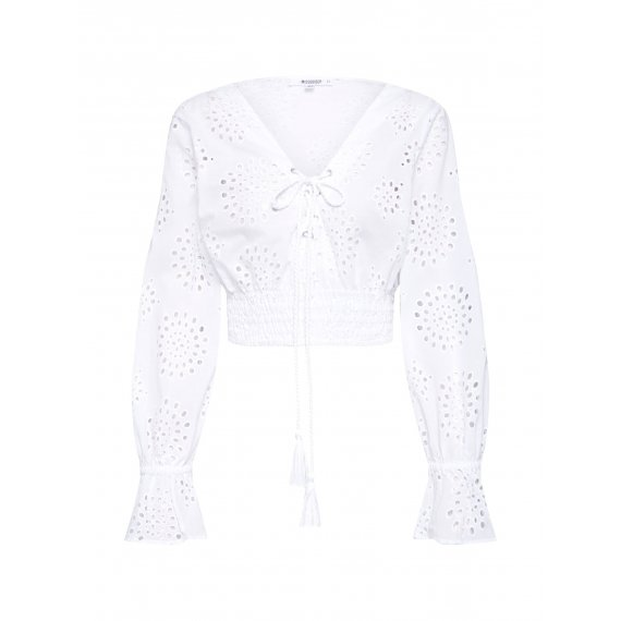 Missguided Top 'BRODERIE ANGLAIS'  biały